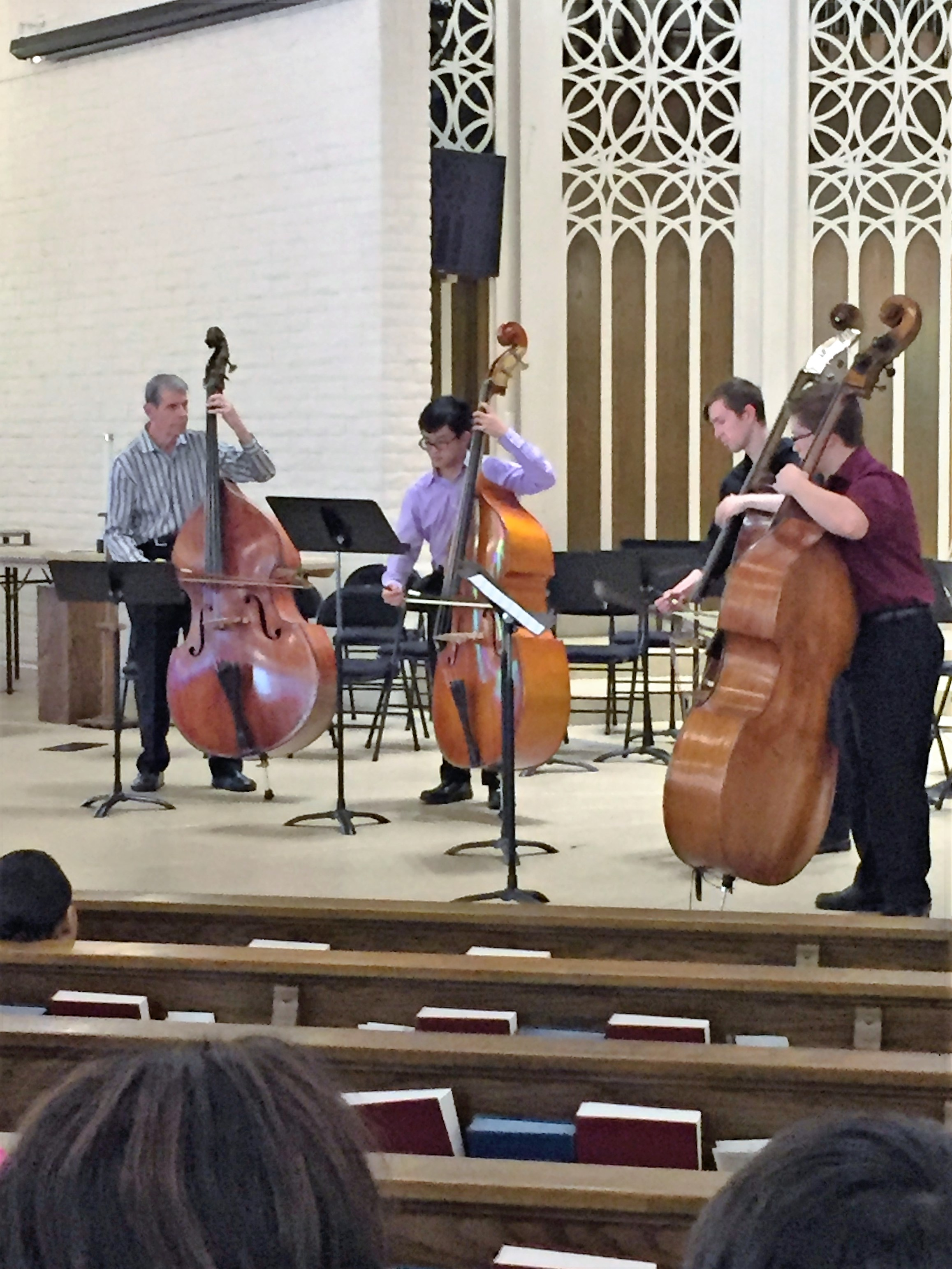 Dan Swaim and his students played after lunch.